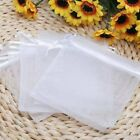 50/100pcs Organza Candy Sheer Bags Pouches Wedding Party Favor Decoration Gift