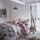Catherine Lansfield Mulberry Grampian Stag 100% Brushed Cotton Duvet Set NEW!