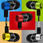 Universal 3.5mm In-Ear Stereo Earbuds Earphone Headphone With Mic For Cell Phone