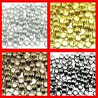 500 - 1000 Pcs 1.5mm Silver Gold Bronze Black Round Crimp Beads FREE UK Postage