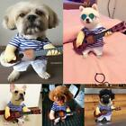 Pet Dog Cat Clothes Novelty Cosplay Rock Guitar Player Puppy Funny Costume Coat