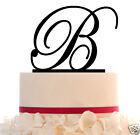 Wedding Cake Topper - Custom Initial Cake Topper with FREE Base