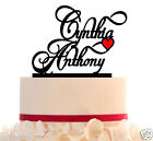 Customized Wedding Cake Topper with Two Names and Heart