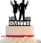 WeddingCakeTopper Mr and Mrs Riffle Lovers Topper Customized  Your Last Name