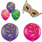 MARDI GRAS masks-a-round QUALATEX Latex & LAMINA PALLONCINI Decorazione Feste
