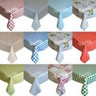 PVC Tablecloth Easy Clean Plastic Table Cloths Waterproof Kitchen Table Covers