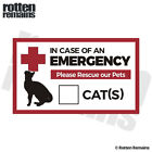 Emergency Cat Rescue Pet Safety Decal Fire First Responder Sticker M77