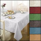 Eva Damask Floral Tablecloth Range: Multiple Sizes And Colours Available