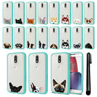 For Motorola Moto G4/ G4 Plus XT1625 XT1644 Animal Clear Teal Bumper Cover + Pen