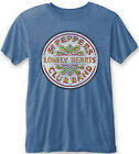 THE BEATLES Sgt. Peppers Lonely Hearts Club Band Drum Blue BURNOUT T-SHIRT MERCH