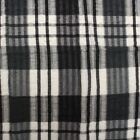"SEERSUCKER 100% COTTON CHECKED QUALITY NON IRON TABLE CLOTH COVERING 65"" ROUND"