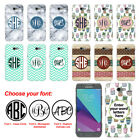 For Samsung Galaxy J7 J7V J727 Custom Personalized Monogram Letters Hard Cover