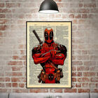 Home Decor Animation Style Deadpool Canvas Print Wall Art Oil Painting Pictures