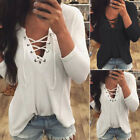Fashion Sexy Women Long Sleeve Tops Blouse V-Neck Casual Slim Fit T-Shirt AS01