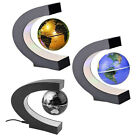 New C shape LED World Map Magnetic Levitation Floating Globe Light Home Decor PD