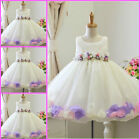 Fancy Pinks Whites Christmas Wedding Party Flower Girls Dresses AGE 1,2,3,4,5,6Y