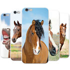 Beautiful Elegant Brown Horses Snap-on Hard Case Phone Cover for Apple Phones