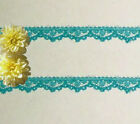 """Lace Trim Turquoise 3/8"""" Scalloped Doll Lace M54AV US Made Added Trims ShipFree"""