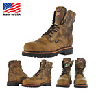 """Justin Brands Gaucho CD441 8"""" Steel Toe Work Boots USA Made Wide Width Avail"""