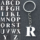 Stainless Steel Keychain Letters Alphabet Bag Pendant