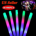 30/180/900 Multi-color Light-Up Foam Sticks Cheer Tube Soft Glow Baton Wands