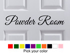 "15"" x 2.5"" POWDER ROOM Door Wall Art Vinyl Letters Decal Dec"
