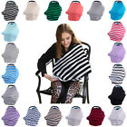 2 in 1 Breastfeeding Baby Car Seat Canopy Cover Nursing Scarf Cover Up Apron PD