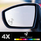 FIAT 500 ABARTH SCORPION Wing Mirror Glass Silver Frosted Etched Decal Sticker