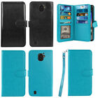 For ZTE Citrine LTE Z716G Z717VL Flip Holder Wallet Cover Case Wrist Strap + Pen