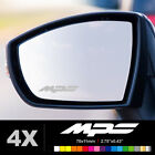 MAZDA MPS 3 6 Wing Mirror Glass Silver Frosted Etched Car Vinyl Decal Stickers