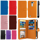 For LG K7 Tribute 5 LS675 Flip Card Holder Wallet Cover Case Wrist Strap + Pen