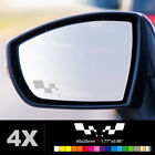 RENAULT SPORT RS FLAG Wing Mirror Glass Silver Frosted Etched Car Decal Stickers