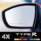 HONDA TYPE R Wing Mirror Glass Silver Frosted Etched Car Vinyl Decal Stickers