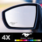 FORD MUSTANG Wing Mirror Glass Silver Frosted Etched Car Vinyl Decal Stickers