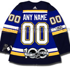 ST LOUIS BLUES ANY NAME  NUMBER ADIDAS ADIZERO HOME JERSEY AUTHENTIC 100TH