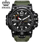 Mens Sports Watch Dual Display Analog Digital LED Electronic Wrist Watches SMAEL