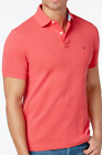 Tommy Hilfiger Men's Geranium Red Classic Fit Ivy Polo Shirt