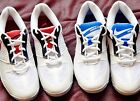 New Womens Nike athletic shoes Volleyball tennis gym adult white red blue 7 7.5