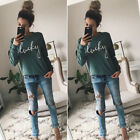 Women's Long Sleeve Hoodie Sweatshirt Sweats Casual Hooded Coat Pullover Top TY