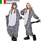 hot unisex costume carnevale Pigiama animali adulto cosplay Zoo zebra tuta