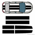 EZ Rally Racing Stripes 3M Vinyl Stripe Decals Graphics for Dodge Dart $69.99 USD on eBay