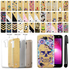 """For LG X Power 2 LV7 5.5"""" Sparkling Gold TPU Case Cover Protective + Pen"""