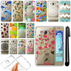 For Samsung Galaxy On7 On Nxt J7 Prime G610 Slim Soft TPU Clear Case Cover + Pen