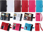 Strap 9in1 Mutifunction Leather Wallet Card Case  Cover For Samsung Phone DK
