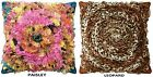 """LEOPARD OR BRIGHT PAISLEY CHIFFON PILLOW COVER, CIRCULAR PATTERN, 20"""" X 20"""""""