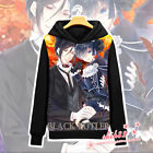 Anime Black Butler Ciel Sebastian Coat Hoodie Sweatshirt Warm Jacket Cosplay #E2