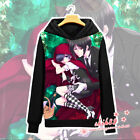 Anime Black Butler Ciel Sebastian Coat Unisex Hoodie Jacket Long Sleeve Cosplay