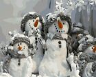 "16x20"" DIY Paint By Number Kit Acrylic Oil Painting on Canvas Christmas Snowman"