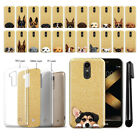 For LG K20 Plus K20 V LV5 M250 2017 Dog Design Sparkling Gold Case Cover + Pen