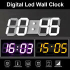 Modern Table Desk Night Wall Digital LED Clock Alarm Watch 24/12 Hour Display